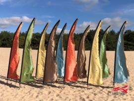 10 Pastelkleurige beachvlaggen