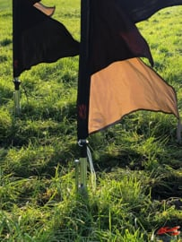 10 festival vlaggen huren bruin zwart