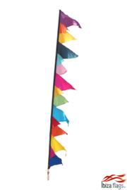 Festival vlag huren multicolor