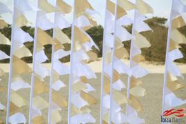 10 festival vlaggen wit huren