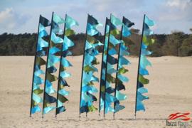 10 festival vlaggen huren aqua
