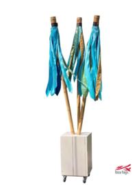 3 Ibiza vlaggen Aqua met bak huren
