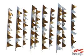 10 festival  vlaggen huren wit goud bruin