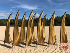 10 Goudkleurige beachvlaggen