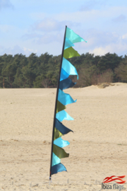Festival vlag aqua
