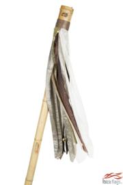 Ibiza vlag Bruin met bamboepaal