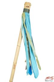 Ibiza vlag kleur Aqua met bamboe paal