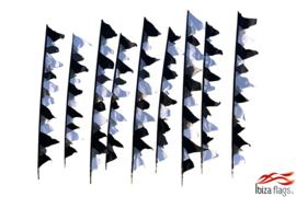 10 festival vlaggen huren zwart wit