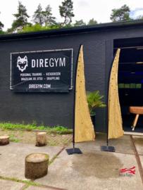 Bruin/zwarte vlaggen voor Dire Sports Soest
