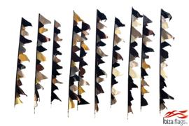 10 festival vlaggen huren wit bruin zwart