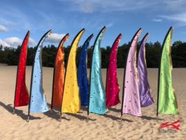 10 Gekleurde beachvlaggen
