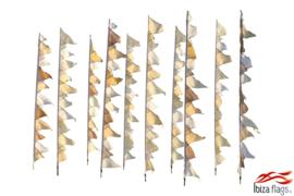 10 festival vlaggen huren wit