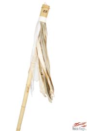Ibiza vlag kleur Wit met bamboepaal