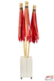 3 Ibiza vlaggen Rood met bak