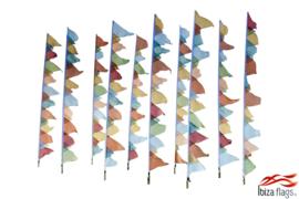 10 festival vlaggen huren pastel