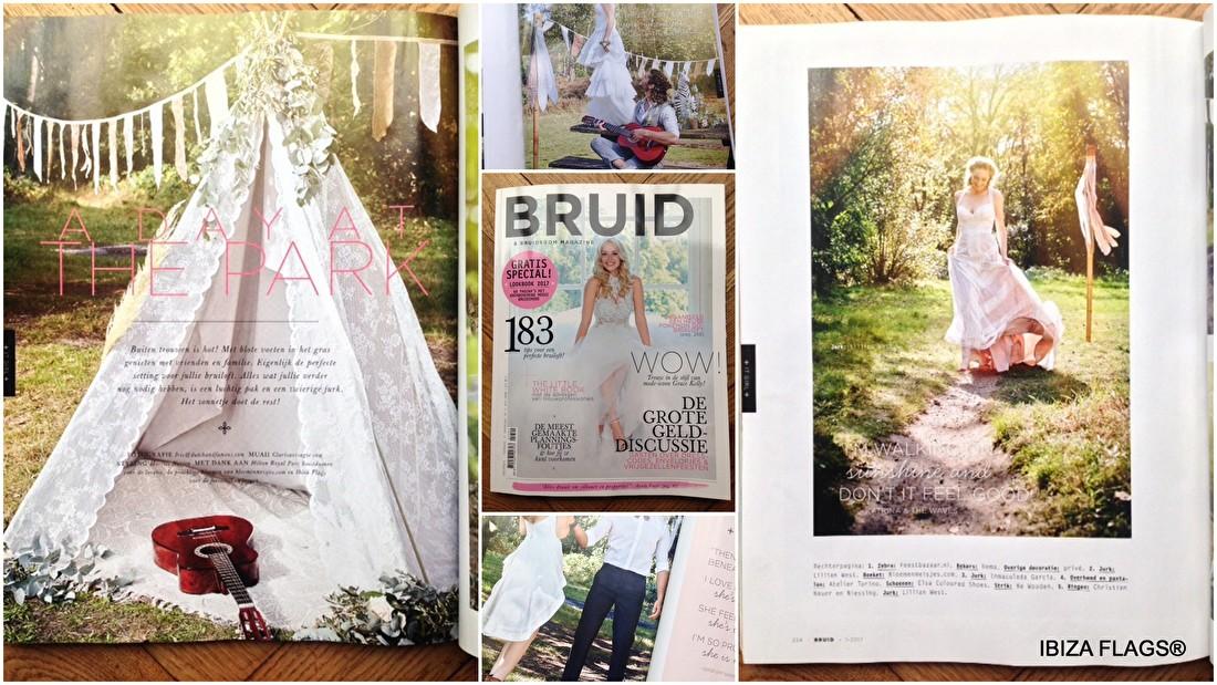 Ibiza Flags in Bruid en Bruidegom Magazine