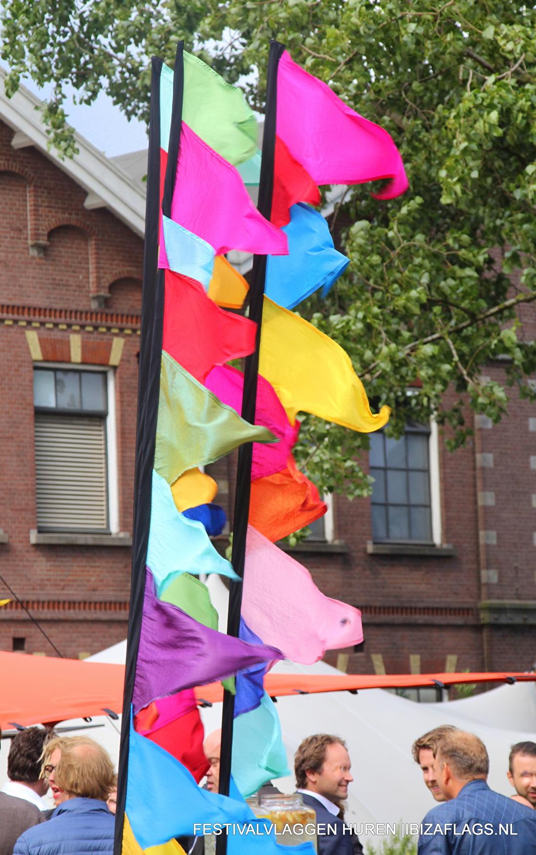 gekleurde grote vlaggen