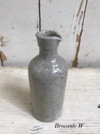Antiek aardewerk / gres inktflesje ...