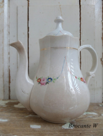 Beboterde antieke bruids koffiepot ...