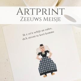 Artprint Zeeuws Meisje