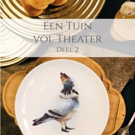 Een tuin vol theater - Deel 2 - set van 4 gebaksbordjes