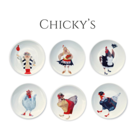 B-Keus Chicky's - set 6 dinerborden