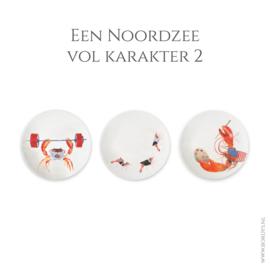 B-keus Een Noordzee vol Karakter 2 - set van 3 dinerborden