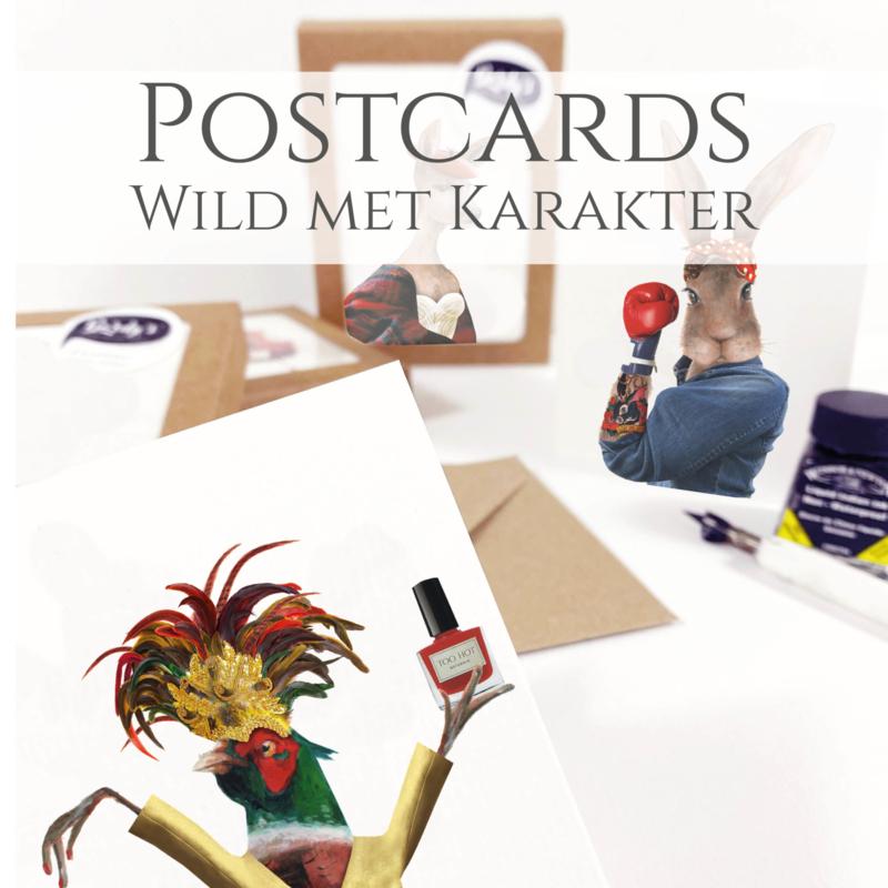 Wild met karakter kaarten