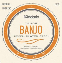 Banjo snaren EJ63 Tenor 4-String nikkel Loop End