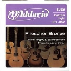 D`addario EJ 26 Phosphor Bronze Guitar Strings