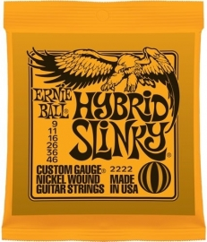 Ernie Ball 2222 Hybrid Slinky Nickel Wound electric guitar stings