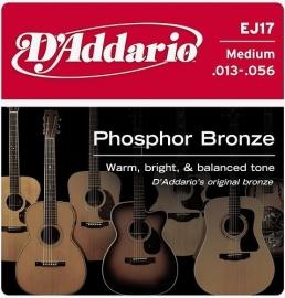 D`addario EJ 17 Phosphor Bronze Guitar Strings
