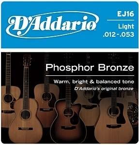 D`addario EJ 16 Phosphor Bronze Guitar Strings