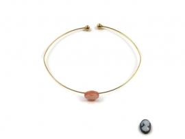 Bangle bracelet with mini cameo