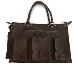 Leather travel or working bag (suitable for laptop) 'Cleo'