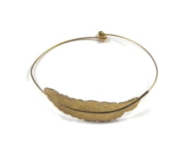 Bangle bracelet 'feather'
