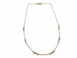 Fine gold plated necklace with small beads