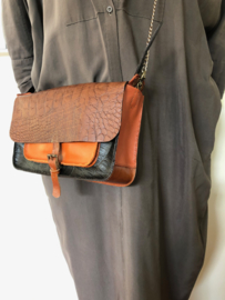 Cross body bag  multi color leather 'Katie 5'