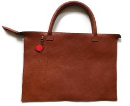 Leather laptop bag 'Mo'