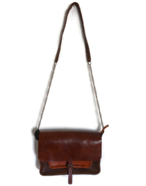 Cross body bag  multi color leather 'Katie 4'