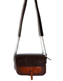 Cross body bag  multi color leather 'Katie 6'