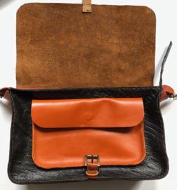 Cross body bag multi color leather 'Katie 2'