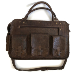 Leather travel or working bag (suitable for laptop) 'Carmen'