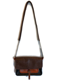 Cross body bag multi color leather 'Katie 2'