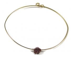Fine bracelet with mini rose