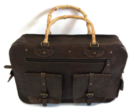 Leather working or travel bag (suitable for laptop) 'Sophie'