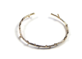 Bracelet gold plated ' twig'