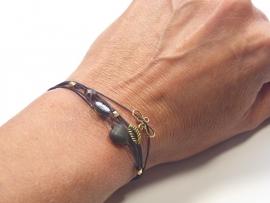 Fine bracelet 6 in 1 black