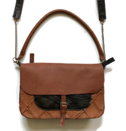 Leather cross body bag 'Katie XXL'