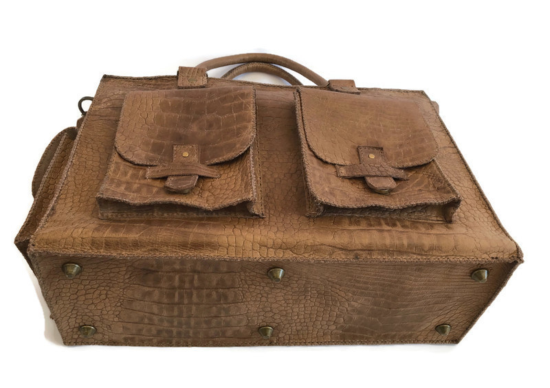 Leather working or travel bag (suitable for laptop) 'Isabelle'